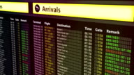 Multiple flights change to canceled on schedule board, imminent terror threat video