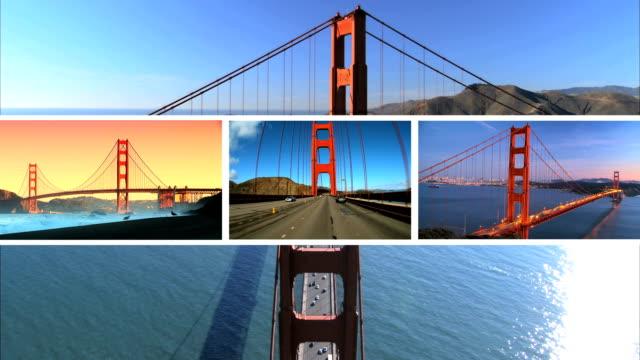 Multiple Images Golden Gate Bridge, San Francisco video