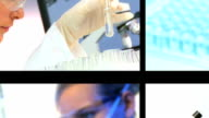 Multiple Montage Images of Medical Research video