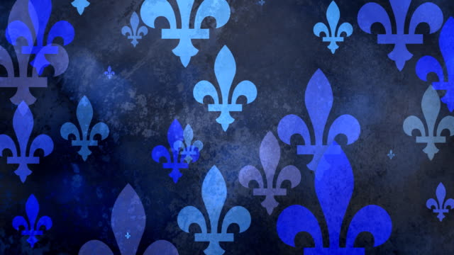 Multiple versions (3) Blue Fleurs de Lys from Coat of arms, Flags and History video