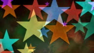 Multiple versions (3) Colorful Backgrounds Made from Stars video