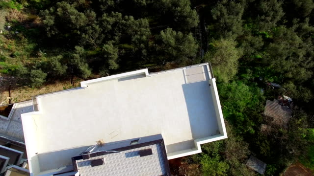 Multi-storey house in the mountains. Montenegrin architecture. P video
