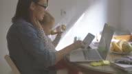 Multitasking mom 4K video