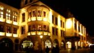 Munich Hofbraeuhaus (Hofbrauhaus) At Night video