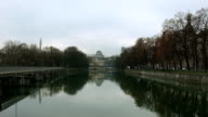 Munich - View over the river Isar to the german museum video