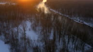 AERIAL Mur river in the winter video