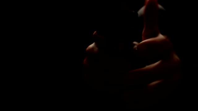 murderess face covered with fires gunshot video