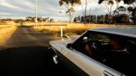 Muscle car driving in the country (24P HD) video