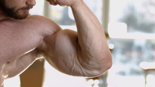 Muscular torso and arms. video