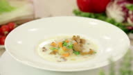Mushroom soup with vegetables video