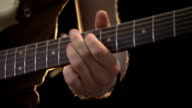 Music concert guitarist. Guitar player on stage. video
