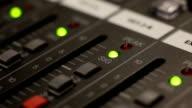 Music Mixer desk table in recording studio LOOP video