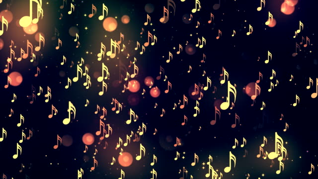 Music notes 5 Loopable Background video