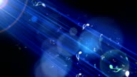 Music Notes Arised through The Blue Light video