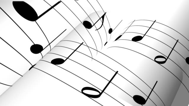 music notes backgound video