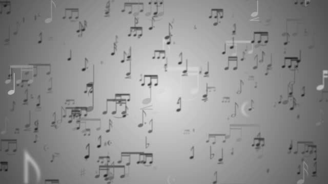 Music Notes Background - Loop video