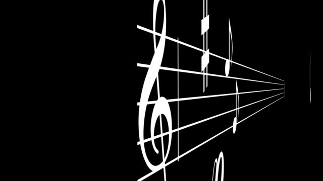 Music Notes Fly through video