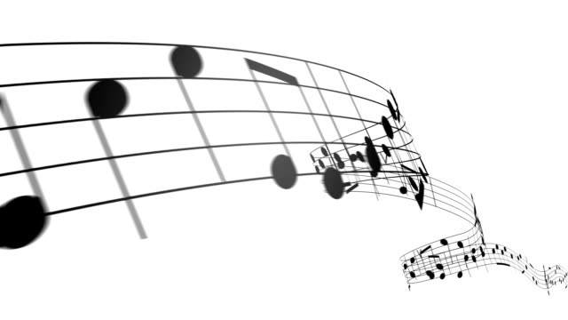 Music notes in 3d. HD. Loopable. video
