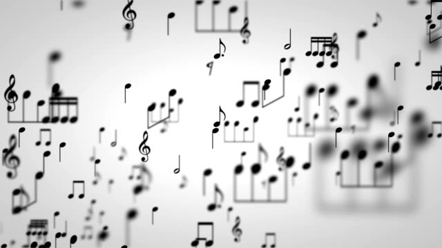 Music Notes Particles 01 video