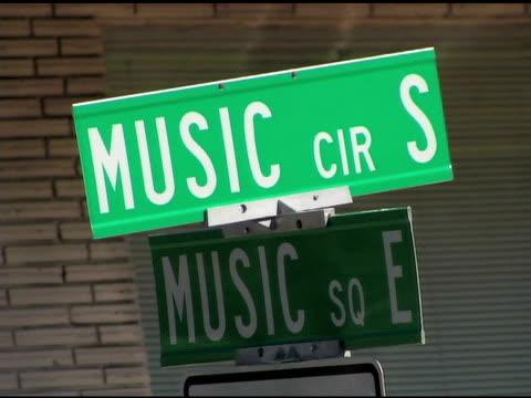 Music Row Street signs Five shots video