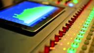 Music studio audio mixer video