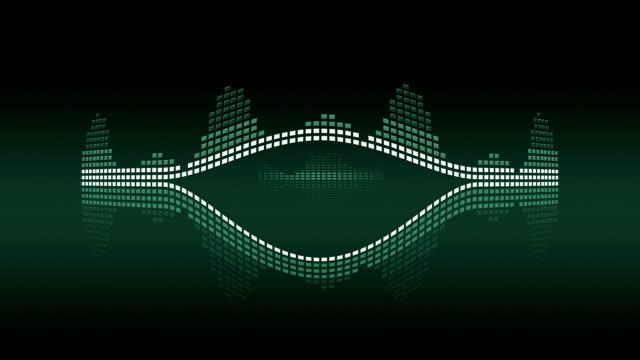 Music VU meters. Green vintage. Seamless loop-able video