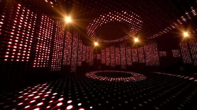 Music Waves Room, Lights Bulbs Animation, Rendering, Background, Loop video