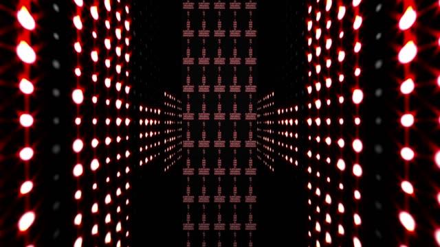 Music Waves Room, Lights Bulbs Animation, video