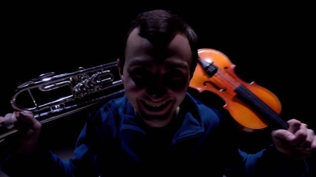 Musical euphoria. The composer composed a symphony video