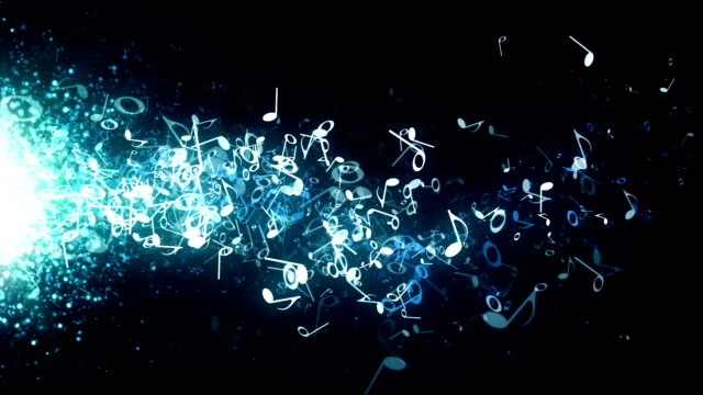 Musical Notes Blue Drifting video