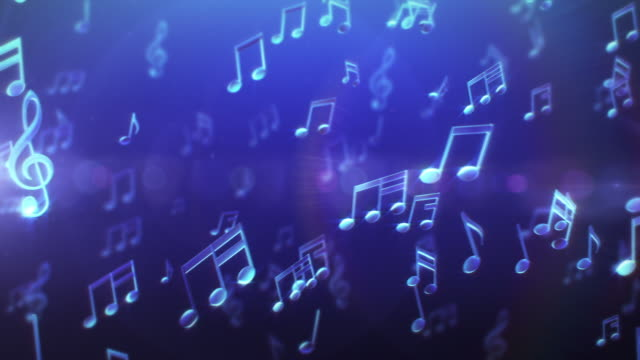 Musical Notes. Blue-Pink. Loopable. video