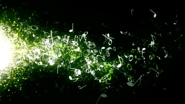 Musical Notes Green Drifting video