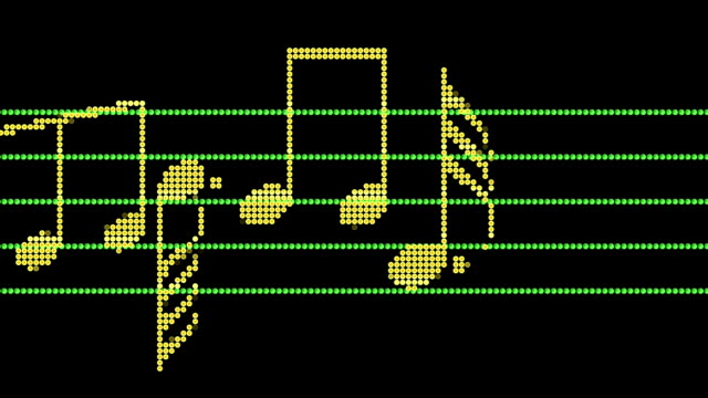 Musical Notes Led Screen video