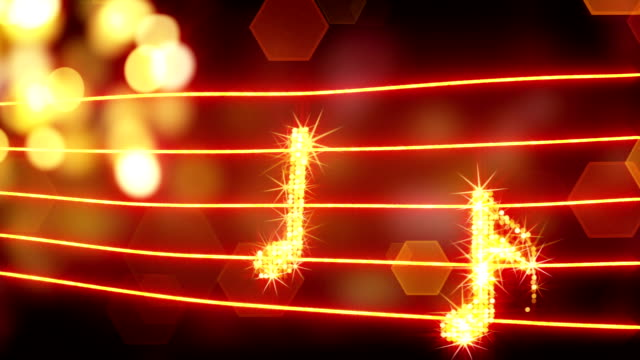 musical notes loopable background video