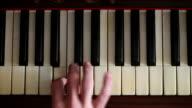 Musician play piano video