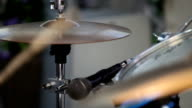 Musician playing drums video