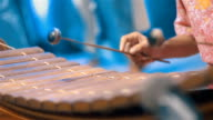 Musician playing Thai xylophone in Orchestra Traditional Music video