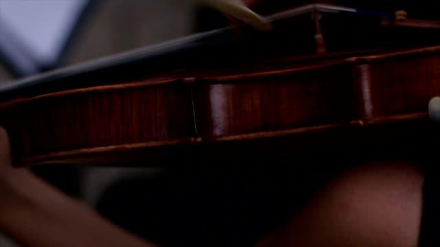 Musician playing violin video