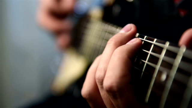 Musician Plays Rock Music On Electrical Guitar video