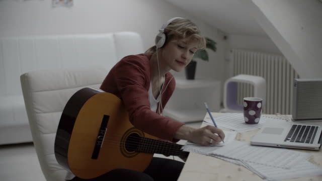HD: Musician Writing Song. video