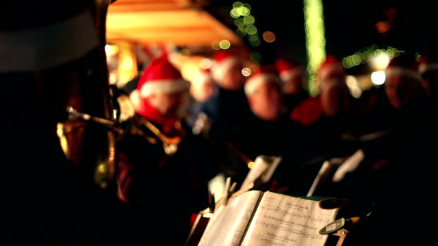 Musicians at the Christmas Market video