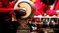 musicians play Thai style drum video