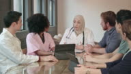 Muslim Female Doctor Leads Multi-Ethnic Medical Team WS video