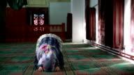 Muslim girl praying video