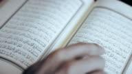 Muslim Man Reading Koran video