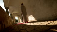 HD: Muslim Pilgrim Praying At Late Afternoon video