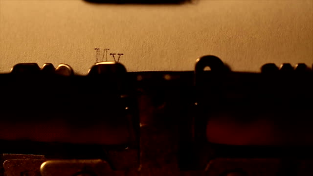 'My book' typed using an old typewriter video