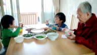 My grandmother at lunch video
