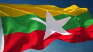 4K Myanmar Flag - Loopable video