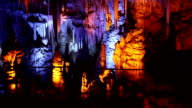 Mysterious stalactite cave video